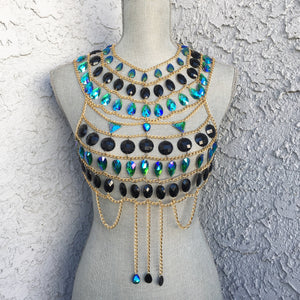 Havana jewelry body chain top