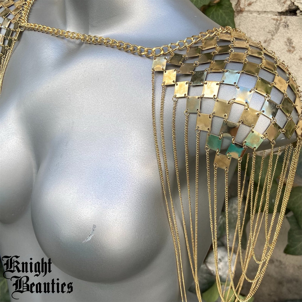 Gold Shoulder Jewelry Armor - Body Jewelry