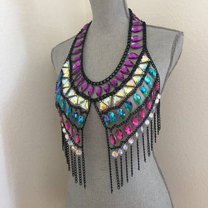 Coco Purple Black Chain Jewelry top
