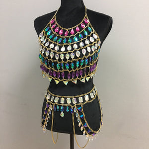 LAST ONE!! Carnaval Chain Crop Top size M