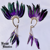 High Priestess Purple Feather Ear Cuff w/gold