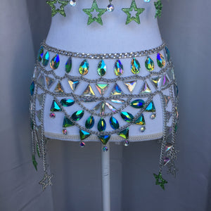 ALIEN LEVEL UP STAR Chain Skirt