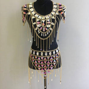 Layla Gold Chain Jewelry Top