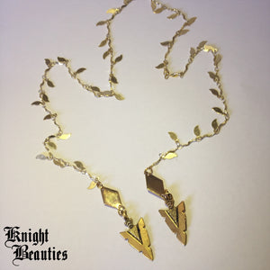 Aphrodite's Royal Veil W/ Gold Arrows Face Chain or Necklace