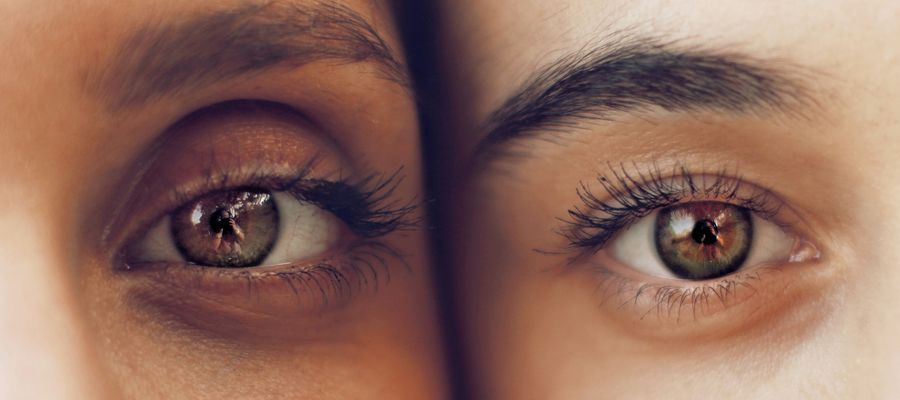 Two eyes side by side