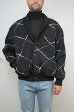 Laden Sie das Bild in den Galerie-Viewer, Strick-Bomberjacke 80s (Vintage)