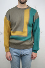 Laden Sie das Bild in den Galerie-Viewer, Colour-block Strickpullover (Vintage)