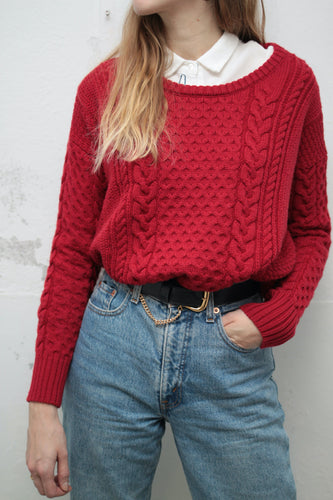 ♥︎ Roter Woolrich Wollpullover