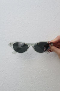 Transparente Cat Eye Sonnenbrille