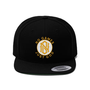 No Games Snapback Black Zest