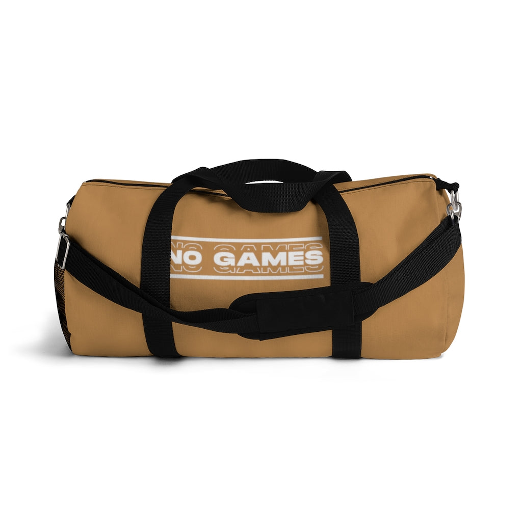 No Games Logo Duffel Bag Gold