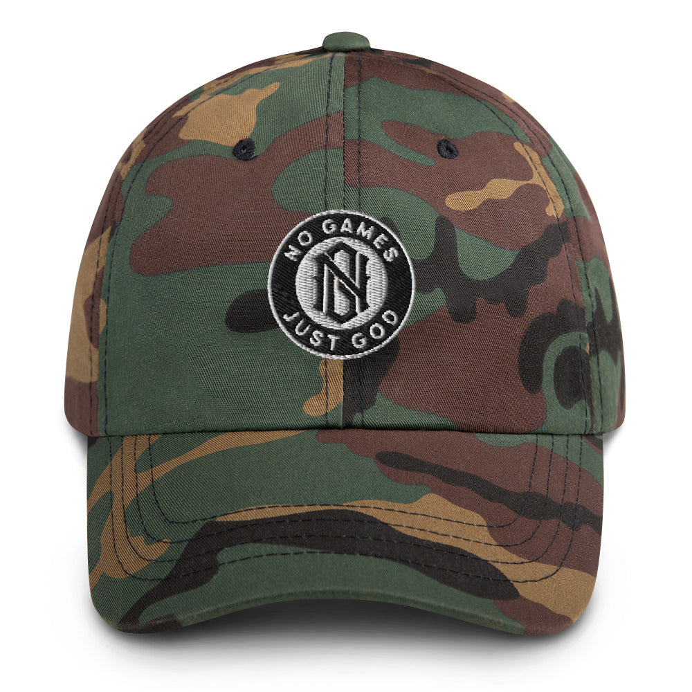 No Games Camo Dad hat