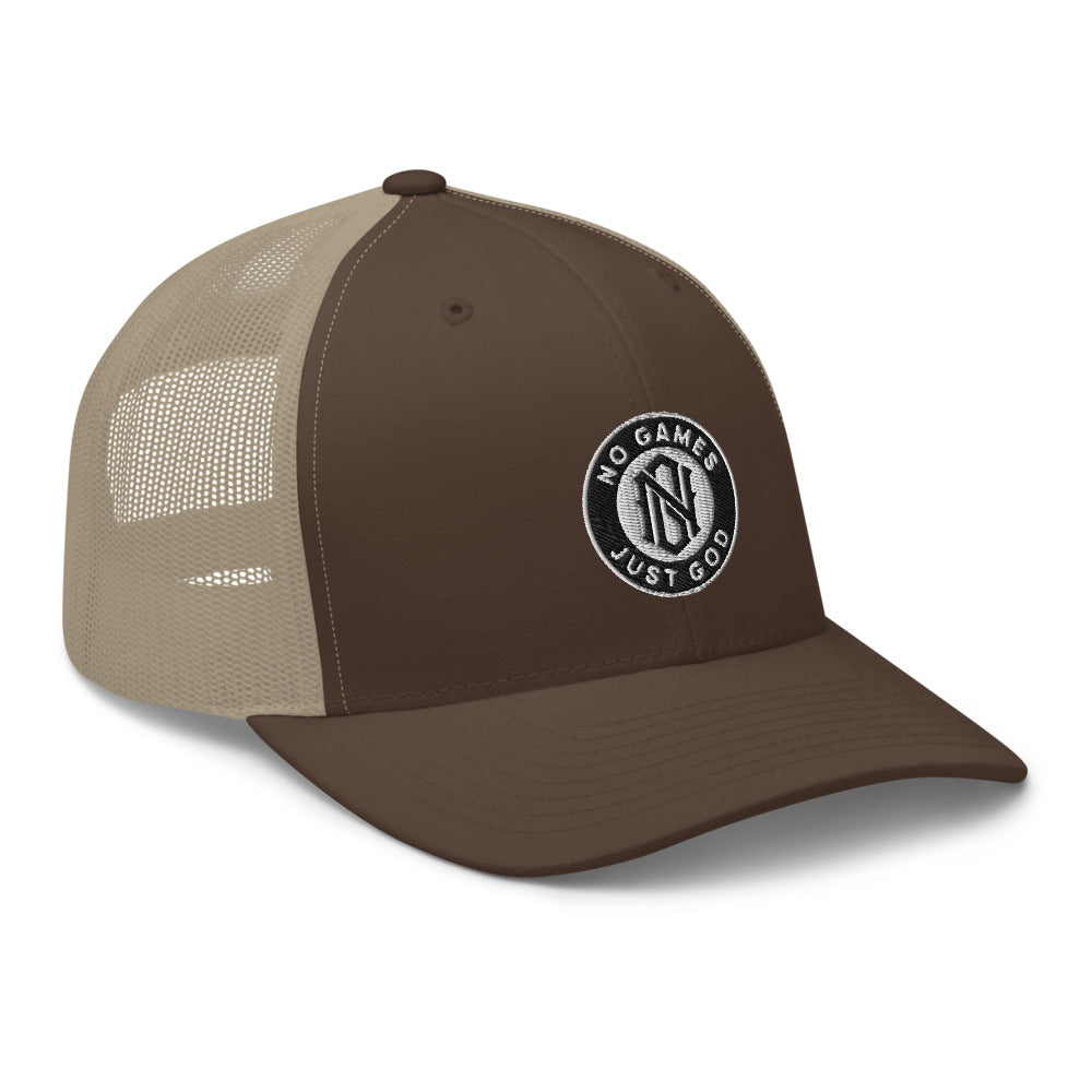 No Games Trucker Cap Brown/Khaki