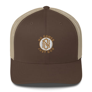 No Games Zest Trucker Cap Brown/Khaki