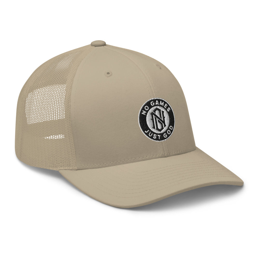 No Games Trucker Cap Khaki