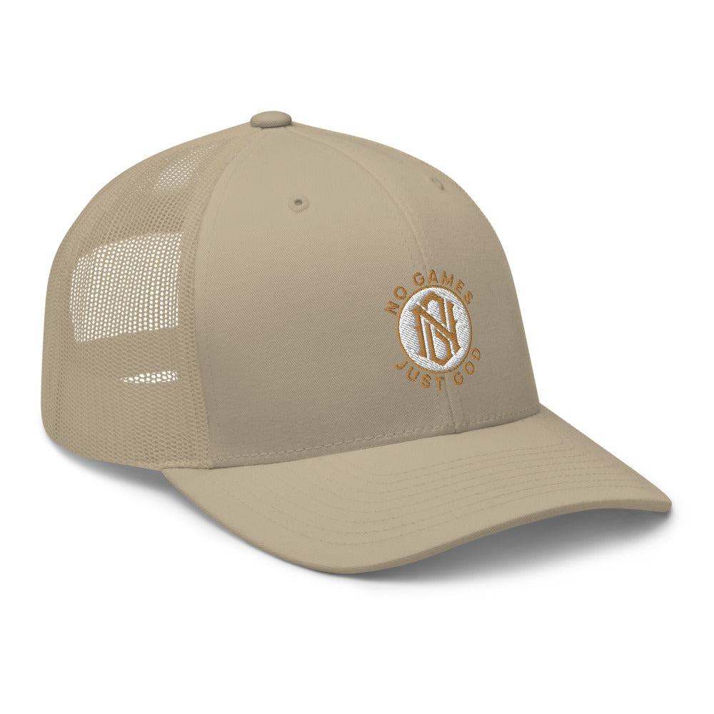 No Games Zest Trucker Cap Khaki