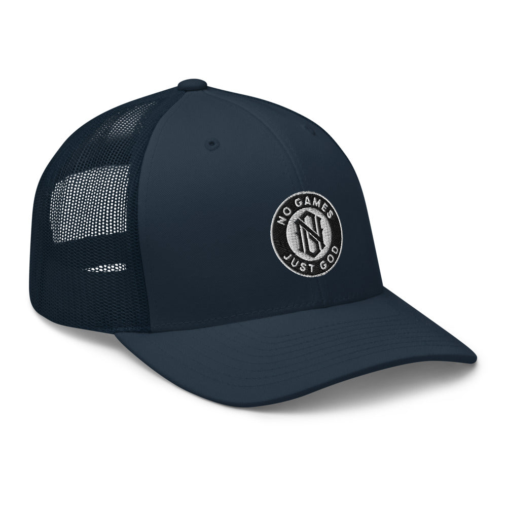 No Games Trucker Cap Navy