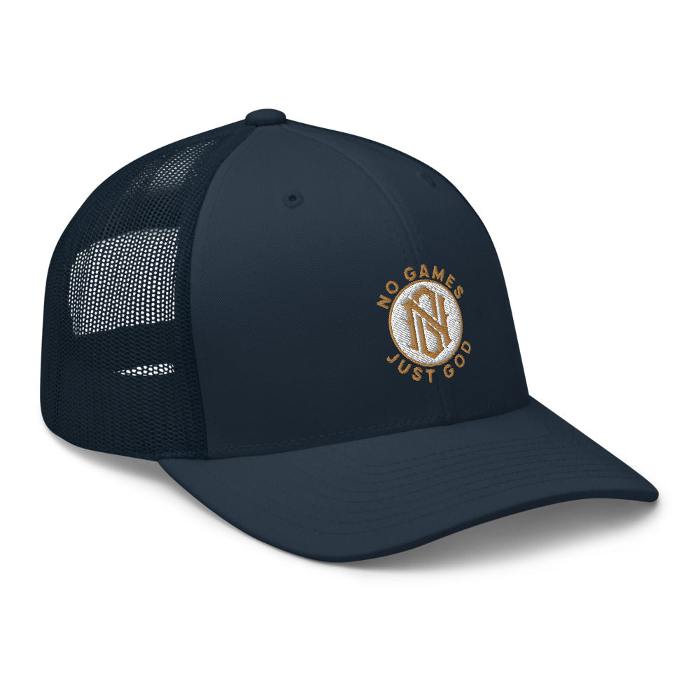 No Games Zest Trucker Cap Navy