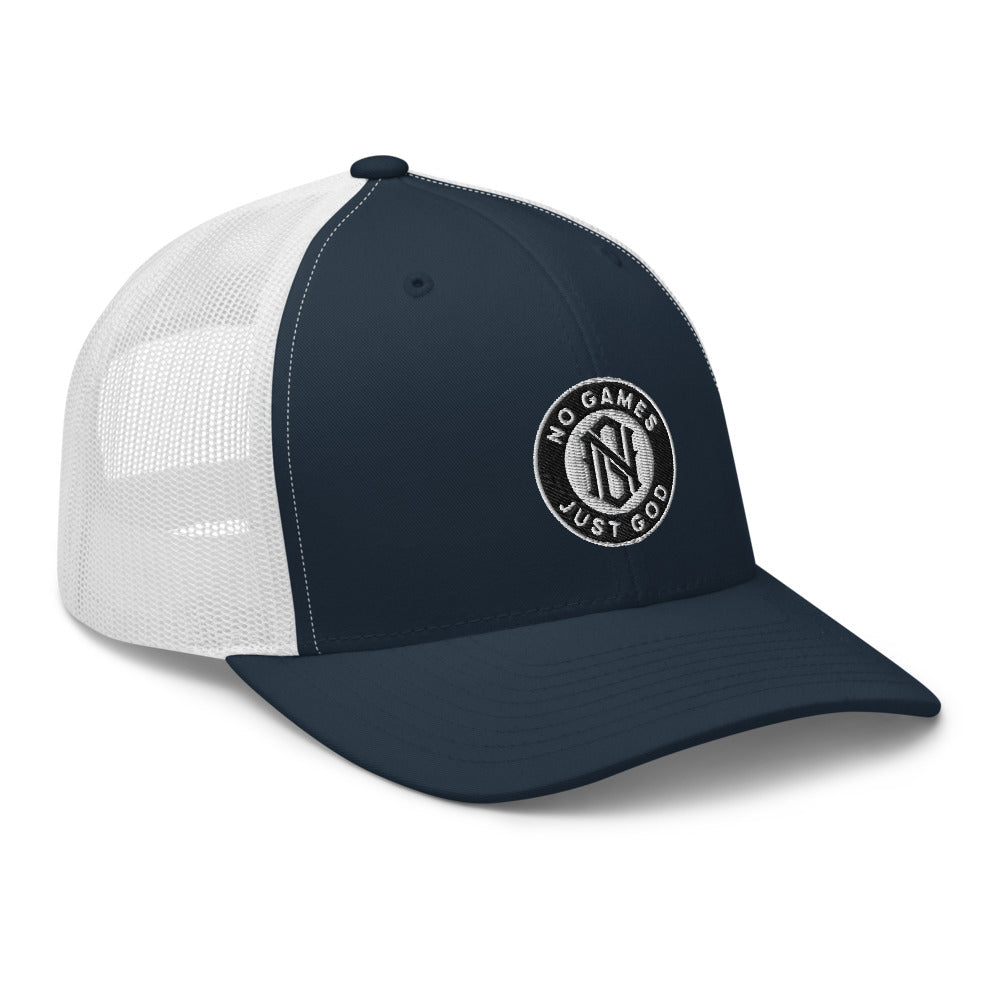 No Games Trucker Cap Navy/White