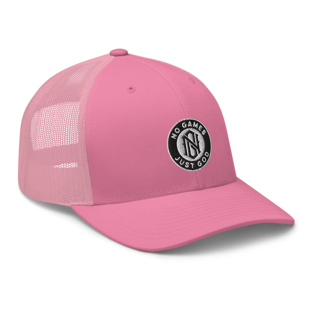 No Games Trucker Cap Pink