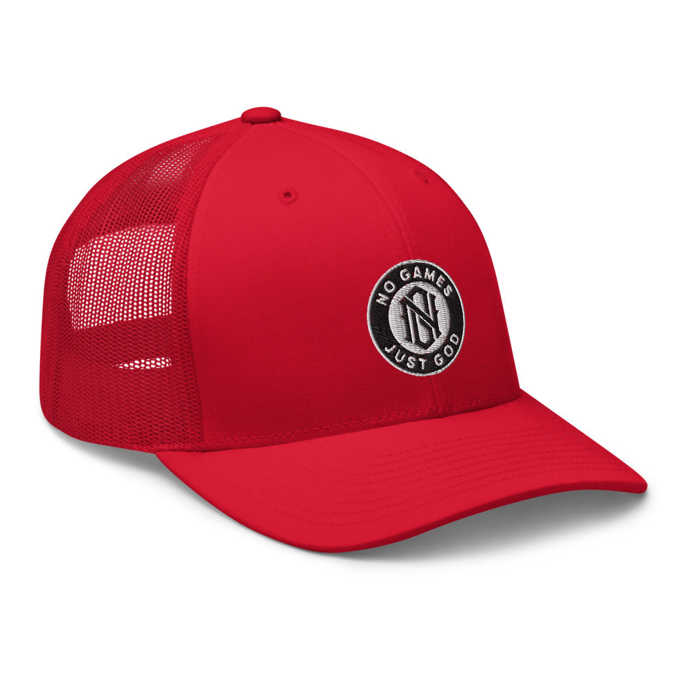 No Games Trucker Cap Red