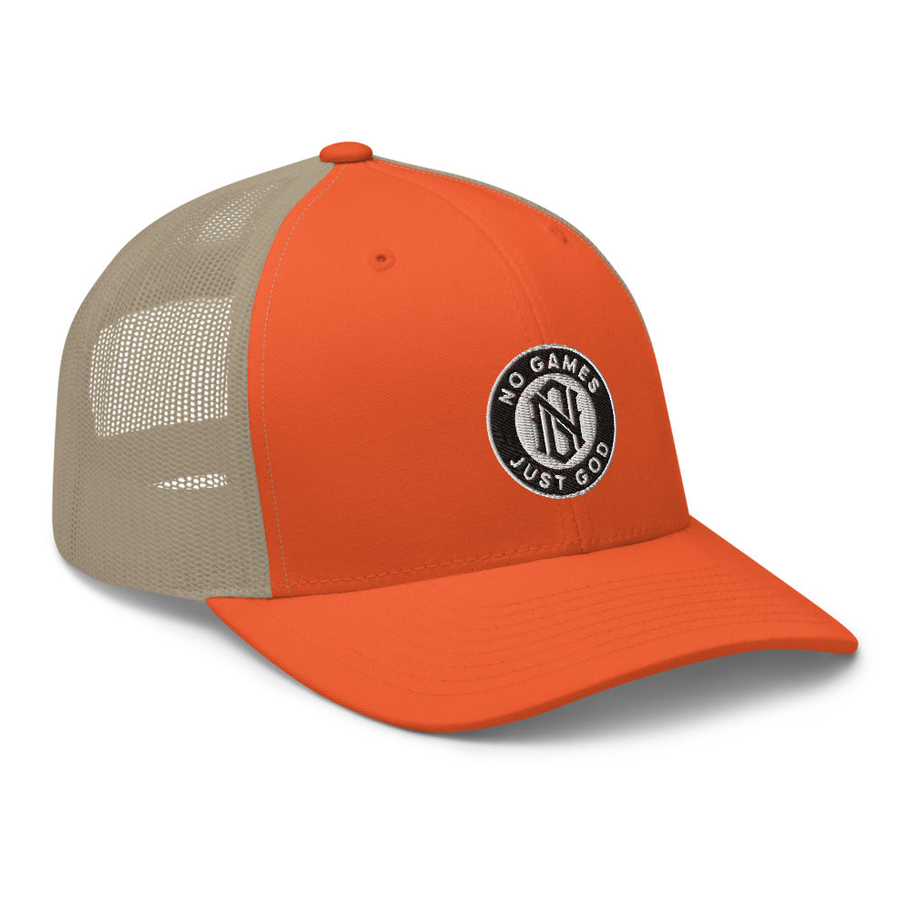 No Games Trucker Cap Orange/Khaki