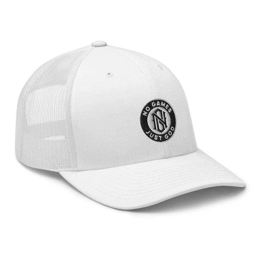 No Games Trucker Cap White