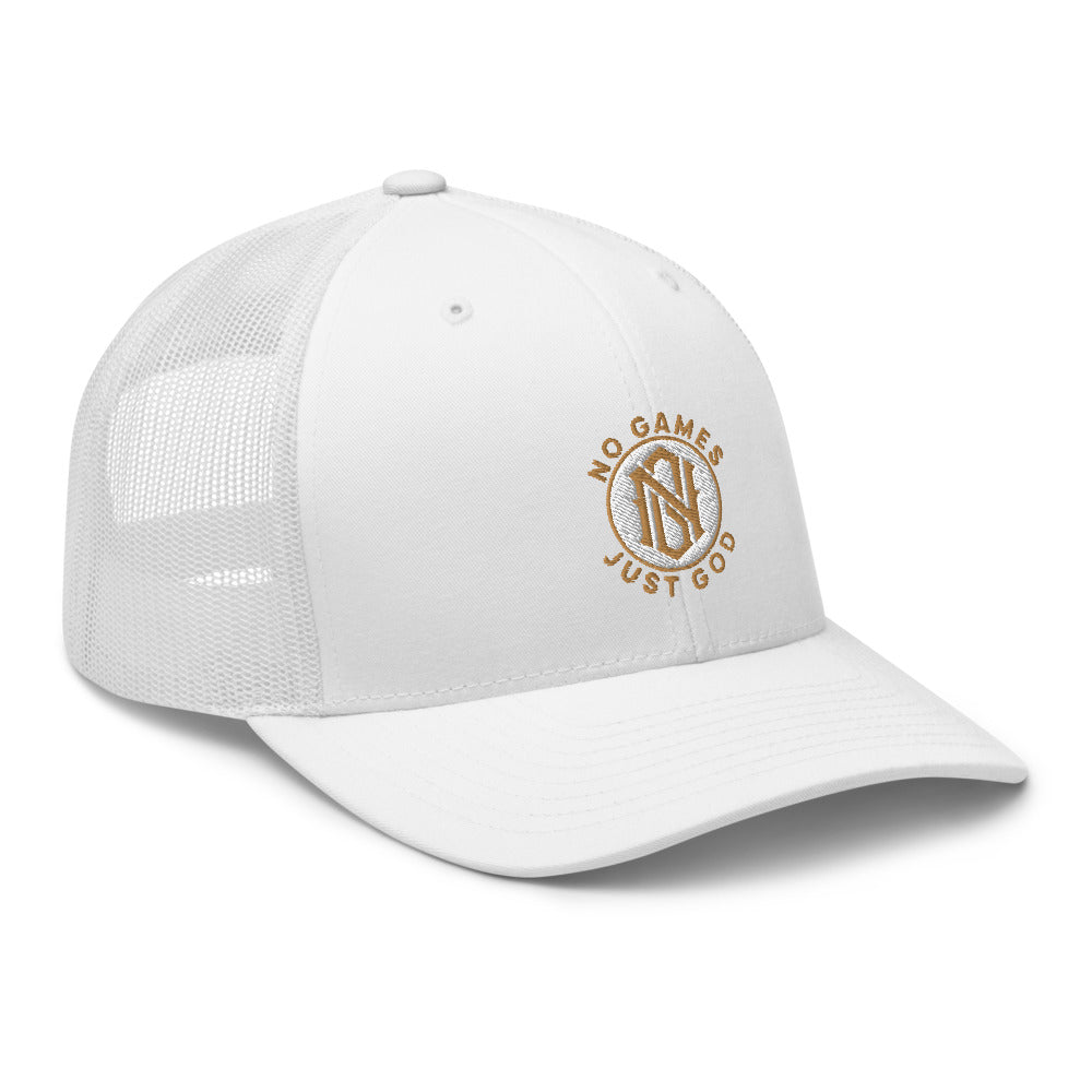 No Games Zest Trucker Cap White