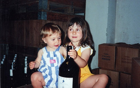 1999-Polly and Rosie introducing at Cantina Ascheri