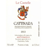 Antoniolo Gattinara Le Castelle 2013 label