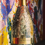 Col Sandago Cuvee background Martino Zanetti absact which the bottle is influenced by