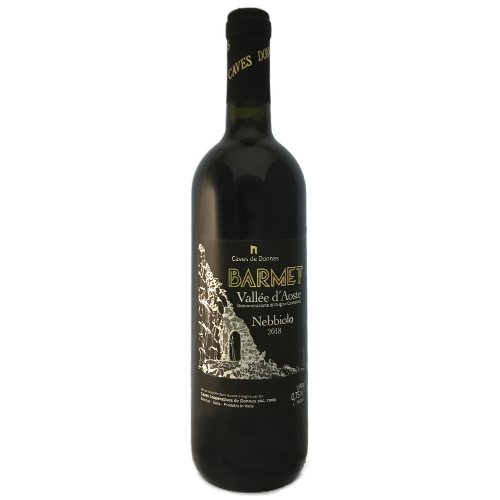 Caves de Donnas Nebbolo Barmet Medium bodied dry red wine from Aosta Italy