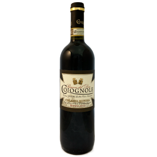 Colognole Chianti Rufina Riserva del Don Toscana Sangiovese Full bodied Italian red wine from the region of Tuscany
