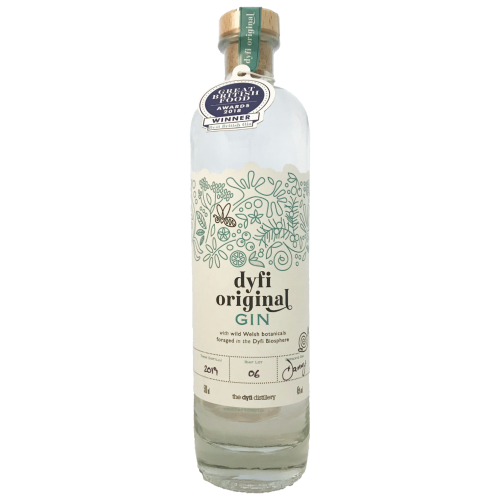 Dyfi Distillery Original Welsh Craft Gin from foraged botanicals in the Dyfi Valley UNESCO biosphere Wales
