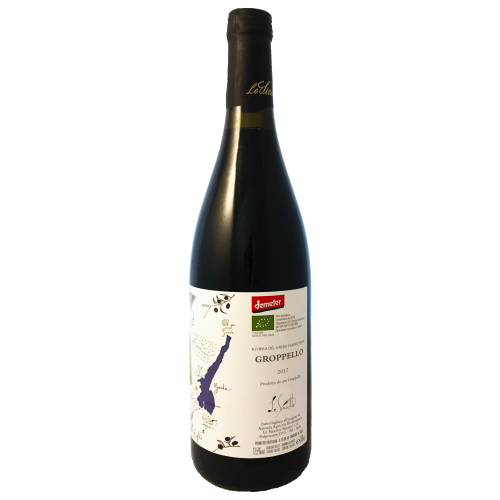 Le Sincette Groppello biodynamic Lombardian medium bodied dry red wine from the western shore of Lake Garda