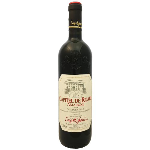Luigi Righetti Amarone Classico Capitel de Roari 2015 Full bodied appassimento from Corvina grown in the Veneto northeast Italy