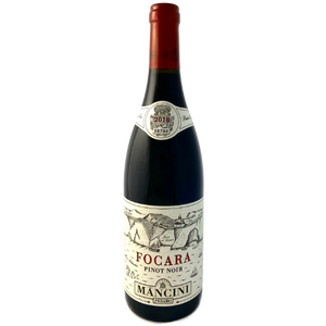 Mancini. Pinot Noir 'Focara' medium bodied dry red Italian wine from coastal Marche Pinot Noir