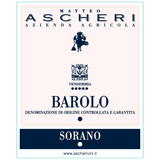 Matteo Ascheri Barolo Sorano 2012 - Label -  Italian Full bodied red wine