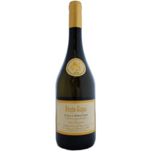 Camillo Montori Pecorino Fonte Cupa Dry fresh white italian wine from the Abruzzo Italy