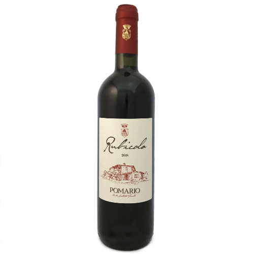Pomario Rubicola Umbria Sangiovese a dry medium bodied Italian red wine