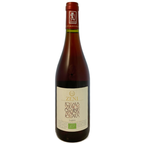 Roberto Zeni Rossara Legiare organic light bodied dry red wine