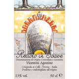 Vicentini Recioto di Soave label