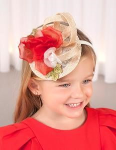 Abel & Lula Red Organza Headband