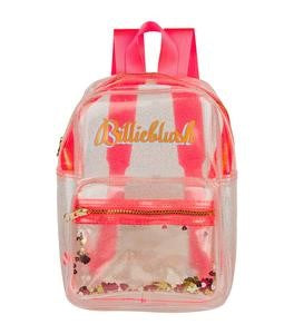 Billieblush Transparent Glitter Backpack