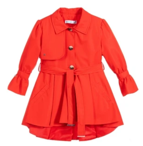 Abel & Lula Girls Red Trench Coat