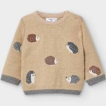 Mayoral Baby Boy Jacquard Sweater with Porcupines