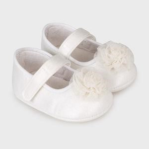 Mayoral Baby Girl Off White Dressy Mary Jane Shoes
