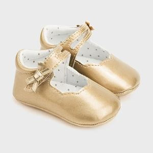 Mayoral Baby Girl Patent Leather Mary Jane Shoes Gold