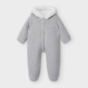 Mayoral Newborn Grey Knitted Pramsuit