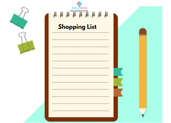 Prepare Shopping List for Baby Products